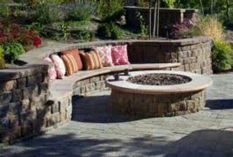 built in pits fire pit with built in seating out the back door pinterest