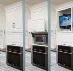 kitchen tv ideas microwave cabinet ovens microwaves