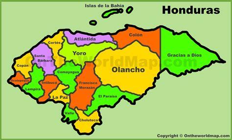 map de honduras