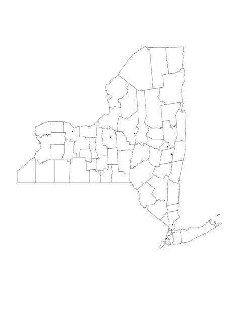 blank  york city map