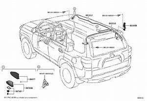 Toyota 4runner Radio Antenna Base  Pole  Pull  Pole  Roof