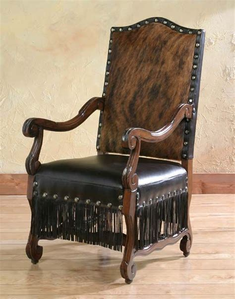 Western Cowhide Furniture by Cabana Fringe Arm Chair In 2019 Western Accent Chairs