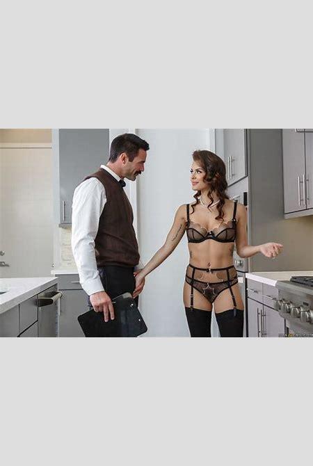Keisha Grey Hot Sex Scene in Sexy Black Lingerie and Stockings! | Keisha Grey