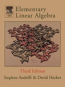 Read Elementary Linear Algebra Online By Stephen Andrilli