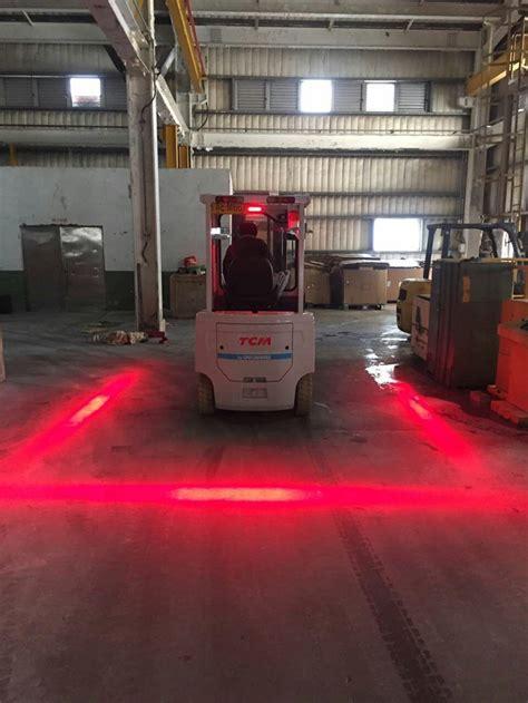 red zone safety light 10pcs 48v 80v safety forklift light with red or blue zone