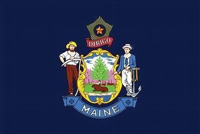 Maine State Flag Flags Usa