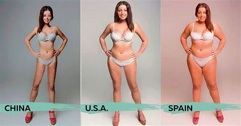 Standards Of Beautiful Around The World Double Woman Photoshopped By 20 Countries Flawless Standards