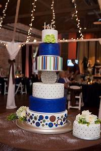 Apple Green And Royal Blue Wedding Cake - CakeCentral.com