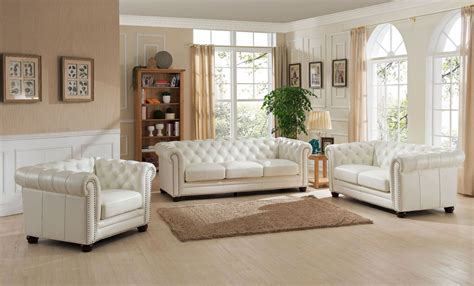 monaco pearl white leather living room set  amax leather coleman furniture