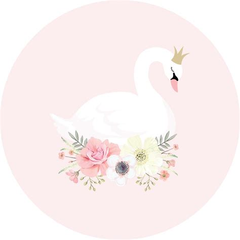swan princess pink wall decal ginger monkey