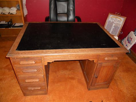 Vintage Wooden Office Desk For Sale