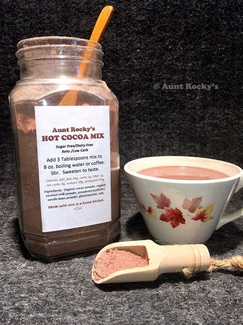 There are tons of recipes that call for cocoa powder and all of them can be made keto (for the most part). Aunt Rocky's Keto Hot Cocoa Mix (Sugar Free, Dairy Free ...