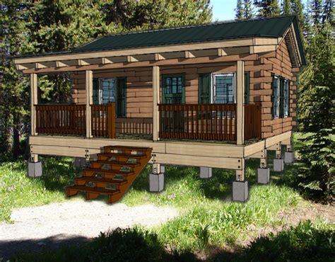 hunting cabin kit log cabin plan