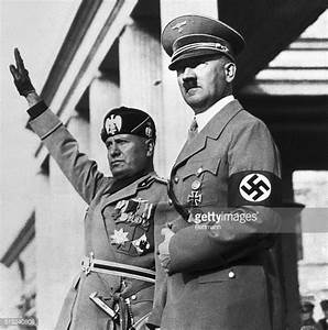 Benito Mussolini and Adolf Hitler on Review Stand Pictures ...