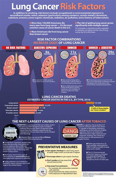 risk factors  lung cancer infographics graphsnet