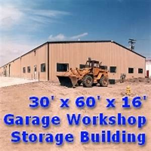 3039 x 6039 x 1639 steel frame garage workshop storage building With 30 x 60 steel building