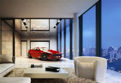 Super Luxury Singapore Apartment With In-Room Car Parking : Sleeping Right Next To Your Supercar