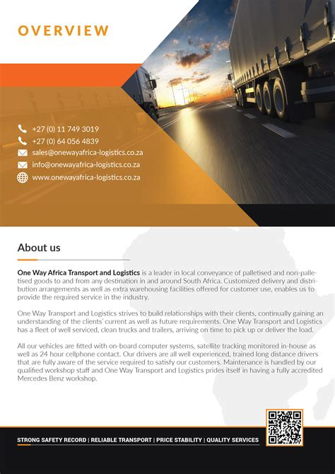 One Way Africa Transport And Logistics Company Profile-02 ...