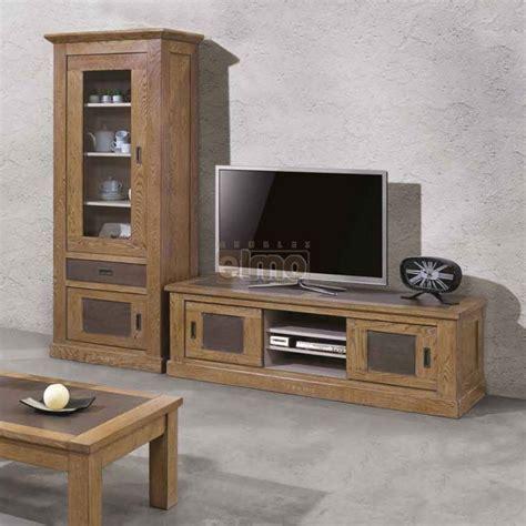meuble tv plasma vitrine  chene massif de france gbs
