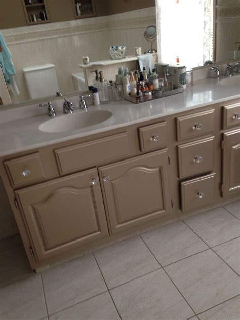 What Color To Paint Bathroom Cabinets by Martha Stewart S Metallic Paint On Bathroom Cabinets