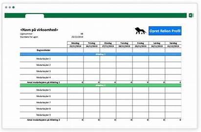 Vagtplan Excel Skabelon Gratis Relion Lav Opret
