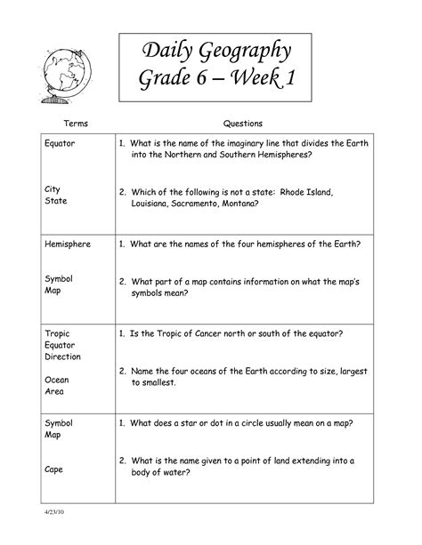 free printable social studies worksheets 8th grade