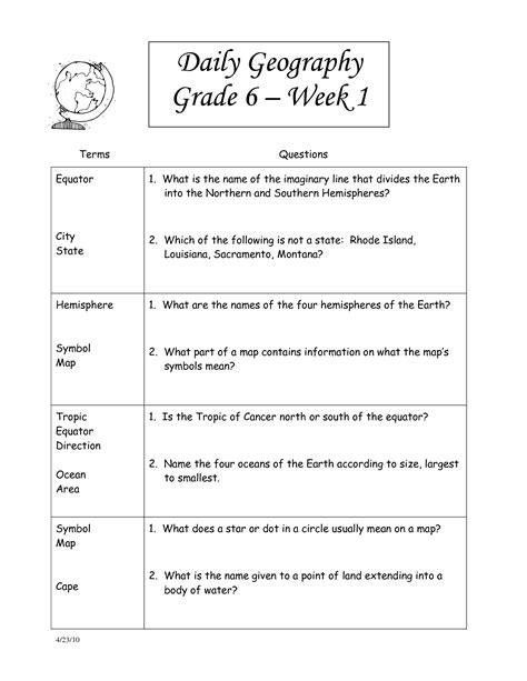 Free Printable Social Studies Worksheets 8th Grade  Worksheets For 4th Grade Social Studies