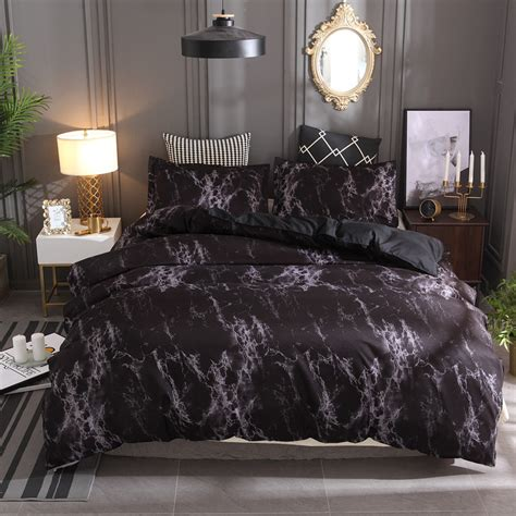 And Black Duvet Set by Aliexpress Buy New Black Marble Pattern Bedding Sets