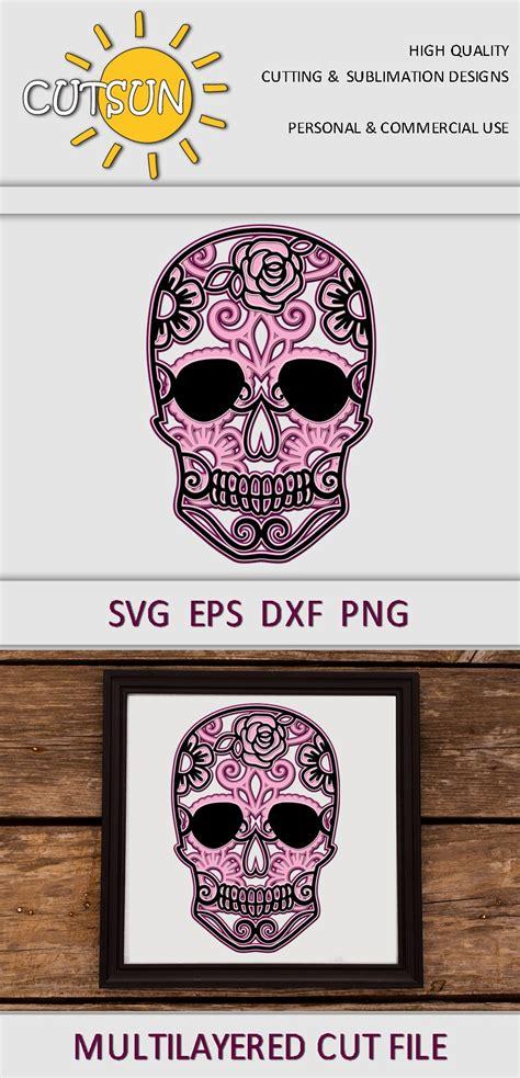 $3.00 $0.99 add to cart. Halloween SVG |3D Layered Sugar Skull Mandala SVG (805146 ...