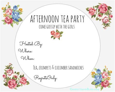 tea party invite printable confetti bliss