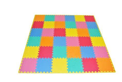 Prosource Puzzle Solid Foam Play Floor Mat Kids Toddler