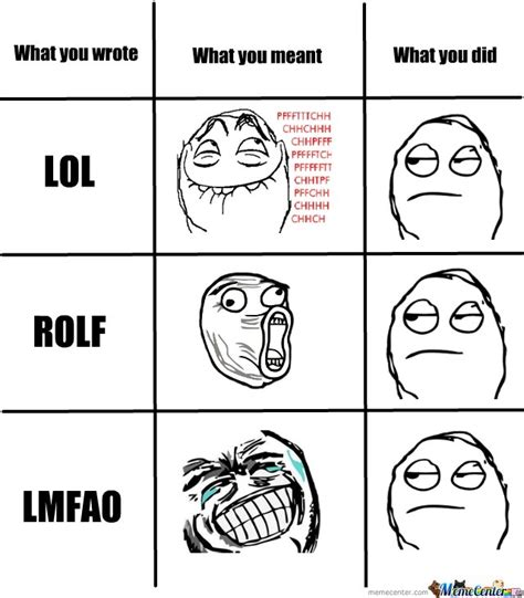 Lmfao Meme - what you wrote lol rolf lmfao by smoushy meme center