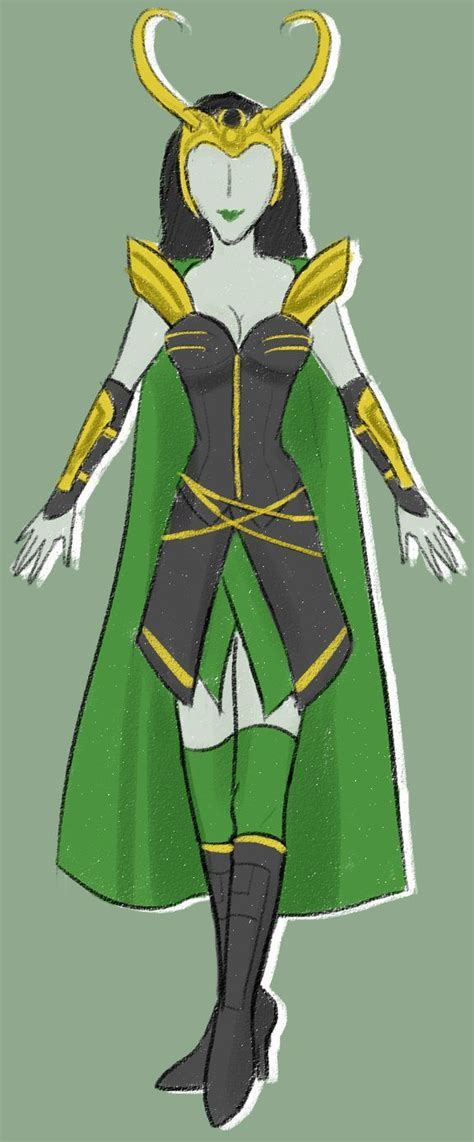 Female Loki Cosplay Design Draft By Frowny Upside Downy