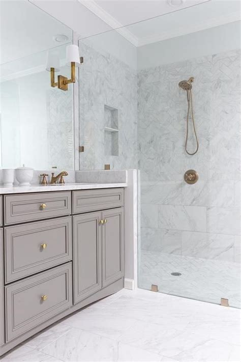bathroom remodel gold gray white bathroom remodel