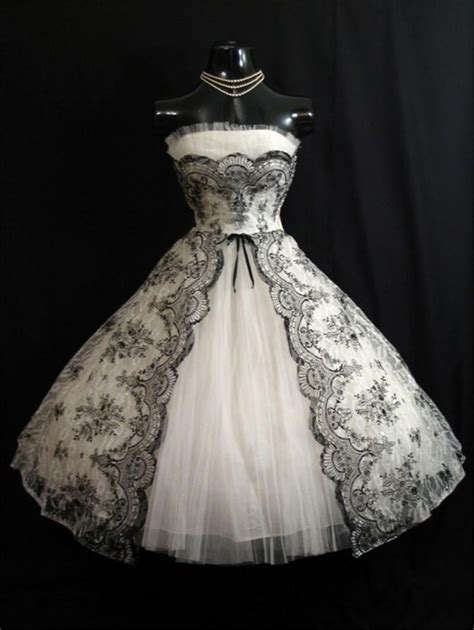 1101 best images about vintage wedding dresses on cheap vintage 1950s black white short wedding dresses 2016