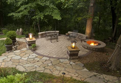 paver patio designs with pit how to build a stone patio with a fire pit latest find this pin and more on outdoor patio ideas