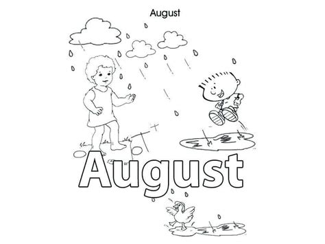 printable august coloring pages