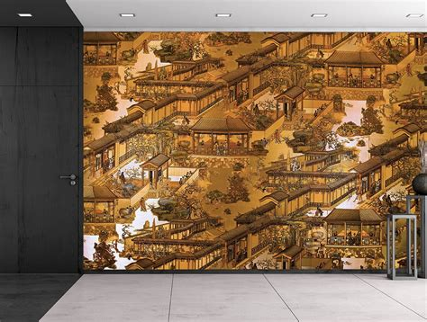 wall traditional chinese painting wall mural