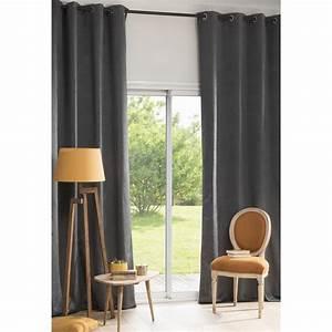 Rideau A Oeillet : rideau illets gris anthracite 140x300 madison maisons ~ Dallasstarsshop.com Idées de Décoration