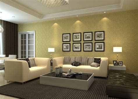 Home Interior 3d View : Interior View Of Minimalist Living Room 3d