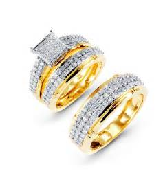 gold wedding ring bridal sets gold bridal sets wedding rings