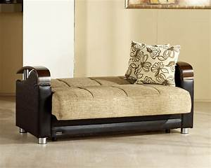 luna fulya brown convertible sofa bed with storage With luna sofa bed