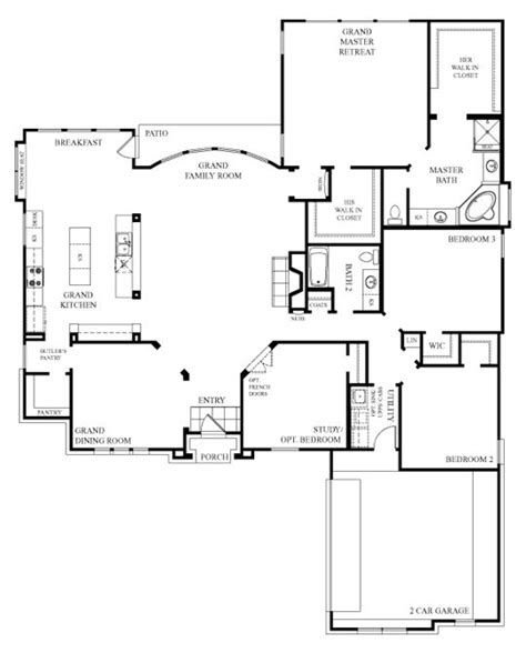 kitchen open floor plans i like this one story house simple and open floor plan 5431