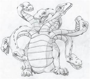 Hydra sketch by WolfieGrrrl on DeviantArt