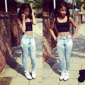 Pants baddies baddies summer outfits ripped jeans sexy - Wheretoget