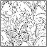 Coloring Pages Adult Garden Sunset Beach Butterfly Botanical Relaxation Coloriage Printable Adults Flower Easy Designs Getcolorings Flowers Papillon Fine Visiter sketch template