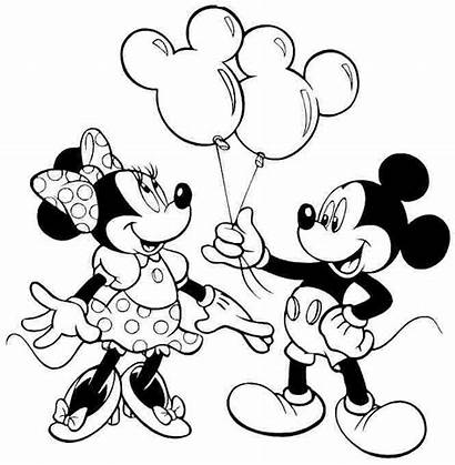 Mickey Mouse Disney Coloring Minnie Pages Printable