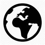 Icon Globe Flat Svg Earth Internet Map