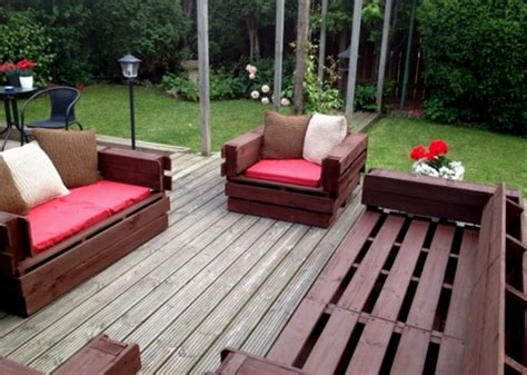 diy patio furniture out of pallets pallet outdoor furniture plans recycled things