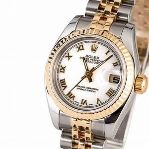Rolex Lady-Datejust 179173 White Roman Dial
